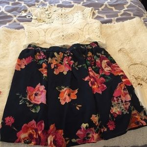 Beautiful Floral Print Skirt